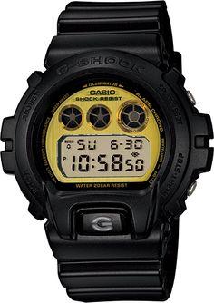 Casio Mens Casio G-Shock Black and Gold Watch DW-6900PL-1 (DW6900PL1) 538f060c291d
