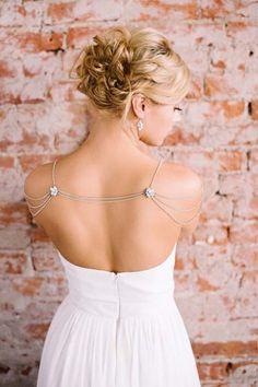 Crystal Bolero | Wedding Necklace | Shoulder Jewelry via www.aubresbridal.com