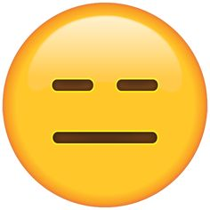 Sometimes, you just don't have any feelings about anything at all, and on those occasions, this emoji will perfectly reflect how you feel.