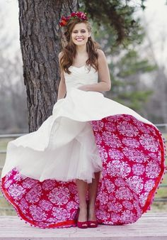Have an amazing splash of color under your wedding dress