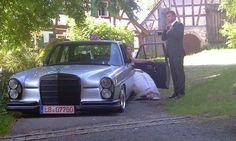 Slammed classic Benz