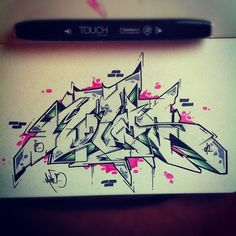 Green Night MOVES by ATEW ONE.....#wildstyle #graffiti #underground #sketch # Style