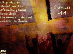 1 Crónicas 29:9 facebook.com/jesusteamamgaministries
