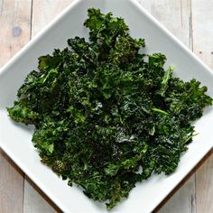 "Baked Kale Chips | ""Delicious & Easy!!!! This is a great alternative to potato chips. Don't turn up your nose yet, try it!!"""