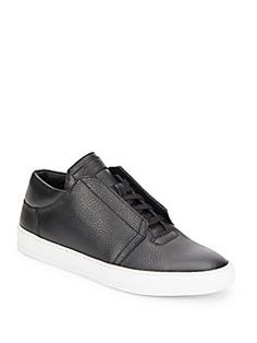 Helmut Lang - Pebbled Leather Sneakers