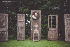 Rustic Doors Wedding Backdrop