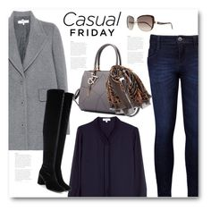 """""""Casual friday"""" by bliznec ❤ liked on Polyvore featuring Reiss, STELLA McCARTNEY, Levi's, Yves Saint Laurent and Roberto Cavalli"""