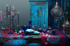 Beautiful bohemian decoration | jewel-tones