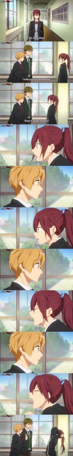 Haha! He get got her