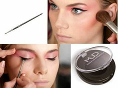 MUD Eyeliner Brush + Cake Liner Compact