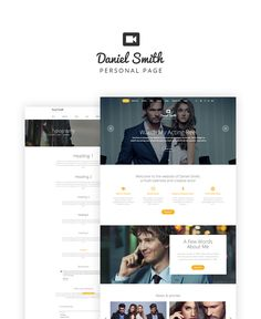 Website Theme , Daniel Smith - Personal Page Responsive Multipage