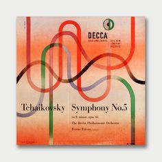 Tchaikovsky Symphony No. 5 Cover art by Erik Nitsche, 1951