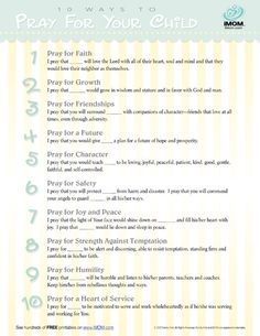 10 Ways to Pray for Your Child - iMom