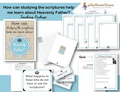 How can studying the scriptures help me learn about Heavenly Father?  Teaching package