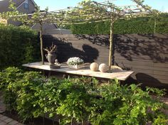 Country Garden - Landelijke Tuin 10 - wouldn't this be lovely in the middle of the veggie garden.eating where you grow? Rooftop Garden, Garden Pool, Lawn And Garden, Home And Garden, Outdoor Rooms, Outdoor Gardens, Outdoor Living, Roof Gardens, Fresco