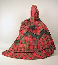 Royal Stuart Tartan with Green Fringe late 1860s #Tartan