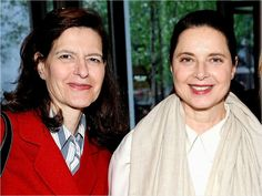 Isabella Rossellini with her twin sister Ingrid. Parker Posey, Famous Sisters, Twin Sisters, Buffy, Triplets, Siblings, Celebrity Twins, Isabella Rossellini, Ingrid Bergman