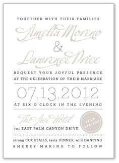 | Aerialist Press - Affordable Letterpress Wedding Invitations