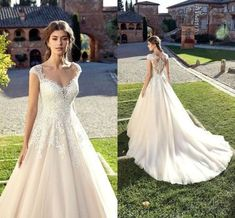 Discount New Arrival A Line Wedding Dresses 2019 Deep V Neck Sweetheart Cap Sleeves Tulle Lace Appliques Sheer Back Sweep Train Bridal Gowns Chiffon A Line Wedding Dress Designer Wedding Dresses Cheap Western Wedding Dresses, Garden Wedding Dresses, Wedding Dress Chiffon, Bohemian Wedding Dresses, Gorgeous Wedding Dress, Princess Wedding Dresses, Wedding Bridesmaid Dresses, Cheap Wedding Dress, Designer Wedding Dresses