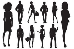 People Silhouettes   by EliasART on @creativemarket #silhouettes #people #characters #isolated #illustration #vector #template