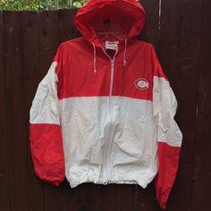 vtg cincinnati Reds Mens M/L Rain Jacket With Hood Rainmate Seven Sons MLB | eBay