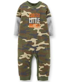 Carter's Baby Boys' Cool Camo Jumpsuit - Kids Baby Boy (0-24 months) - Macy's