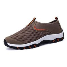 NewChic - NewChic Men Breathable Mesh Fabric Shock Absorption Outdoor Sport Sneakers - AdoreWe.com