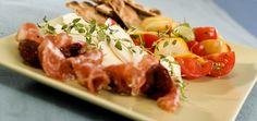 tapasfat med mozzarella og salami