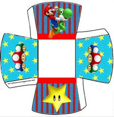 Cajitas Imprimibles de Super Mario Bros - Ideas y material gratis para fiestas y celebraciones Oh My Fiesta!