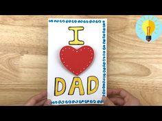 Basteln mit Papier: Pop Up Karte basteln zum Vatertag| Vatertagsgeschenke basteln - YouTube