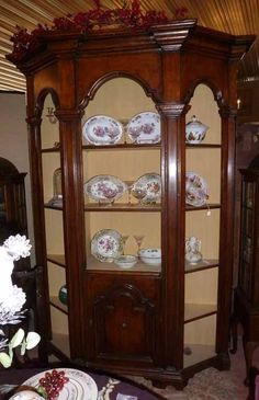49565 Antique Victorian Italian Renaissance Style Architectural Bookcase  Cabinet