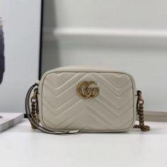 Gucci GG Marmont matelassé mini bag white 448065