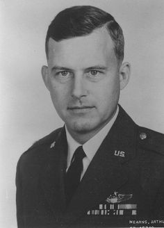 Col. Arthur S. Mearns - When shot down he held the rank of Major the United States Air Force.  He flew an F-105D, he was shot down on Friday, November 11, 1966 and was 37 years old at the time. He was promoted to Colonel by the time his remains were sent back to the U.S.  Cause and date of death are unknown.  He was believed to be alive after he was shot down.  My Cousin's Husband.  #genealogy #military