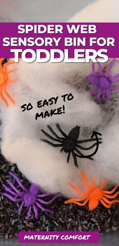 We are sharing 10 fun Halloween Sensory Activities For Toddlers, Start a new toddler Halloween tradition with your family! We included toddler Halloween art ideas, Halloween books for toddlers, Halloween slime recipes, Halloween sensory bins, Halloween colored rice recipe, fall toddler activities, fall playdough recipes, Halloween toddler lunch ideas, Make spaghetti worms for Halloween sensory play with your toddler! #halloween #toddlerhalloween #toddleractivities Toddler Halloween Games, Halloween Activities For Toddlers, Sensory Activities Toddlers, Sensory Bins, Halloween Books, Easy Halloween, Halloween Traditions, Halloween Invitations, Toddler Books