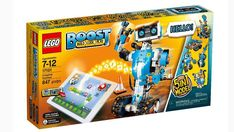 Take your LEGO® play to the next level with the amazing LEGO BOOST Creative Toolbox. Build and code interactive, motorized robots, models and creations with distance, color and tilt sensor technologies. Build one of five multi-functional robots and con Building Systems, Lego Building, Lego Sets, Stem Skills, Free Lego, Lego System, Lego Store, Lego Models, Problem Solving Skills