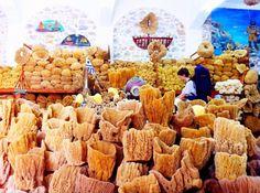 Sponge market in Kalymnos
