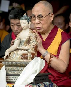 "His Holiness The Dalai Lama: ""We should be 21st century Buddhists with a thorough knowledge of what the Buddha taught. Just closing our eyes and reciting the refuge formula is not enough, we need to know what it means. Why is the Buddha respected? - because of his conduct and knowledge. We can't just rely on his kind face; we have to examine his teachings. From an intellectual point of view the Buddha's teaching is marvellous, but even more important is that we can use it to transform our…"