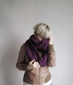 55e4cb7b66 FREE SHIPPING SCARF for preppy ladieslong purple by mucar on Etsy
