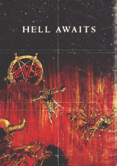Slayer - Hell Awaits (1985) • by Julio César Underground Posters