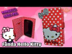 ♥ Tutorial: Funda Hello Kitty tipo FLIP de Goma Eva (Foamy) ♥ - YouTube