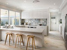 Fehér konyhabútor - konyha / étkező ötletek modern stílusban