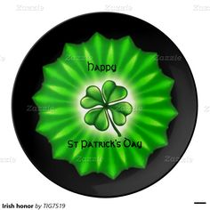 Irish honor porcelain plate