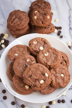 Triple Chocolate Cookies » by @Julie {Table for Two}
