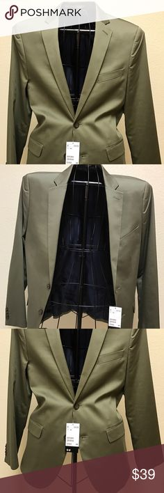 New H&M men's suit Blazer Slim Fit New H&M Slim Fit Men's Blazer color olive green H&M Suits & Blazers