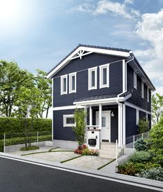 Sweden House, Exterior Paint Colors, Ideal Home, Modern Farmhouse, Life Hacks, Shades, House Design, Mansions, Architecture