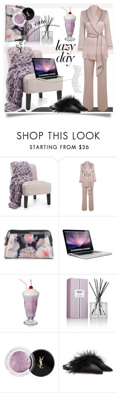 """""""Sleep In: Lazy Day"""" by kari-c ❤ liked on Polyvore featuring Agent Provocateur, Ted Baker, Nest Fragrances, Yves Saint Laurent, Prada and LazyDay"""
