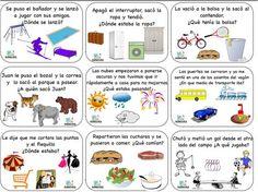 A mis hijos les encantaron las fichas de las inferencias visuales así que he preparado otras dos fichas nuevas (18 actividades), que adjunto con las
