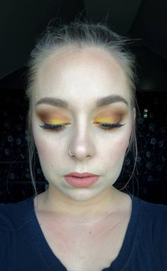 Warm Tones! Yellow smokey eye using ABH Subculture palette