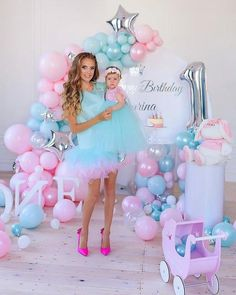 Baby Girl Birthday Dress, 1st Birthday Dresses, 1st Birthday Party For Girls, Daughter Birthday, Birthday Photos, Baby Dress, Mommy And Me Dresses, Mother Daughter Dresses Matching, Balloon Arch Diy
