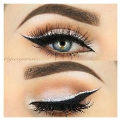 Silver eyeliner ❤ liked on Polyvore featuring beauty products, makeup, eye makeup and eyeliner